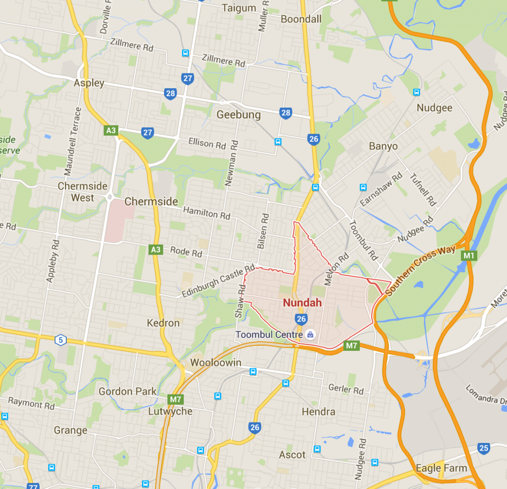 Nundah lawn care services on a Google Map!