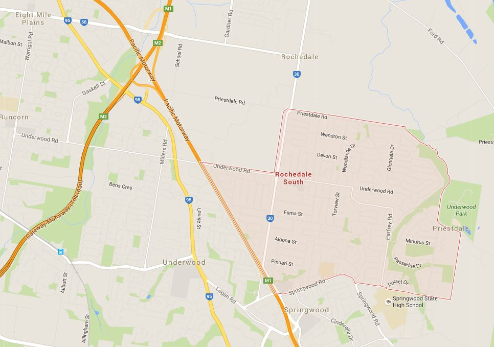 Want to know lawnmowing prices in Rochedale South or surrounding suburbs? (Image credit: Google Map)