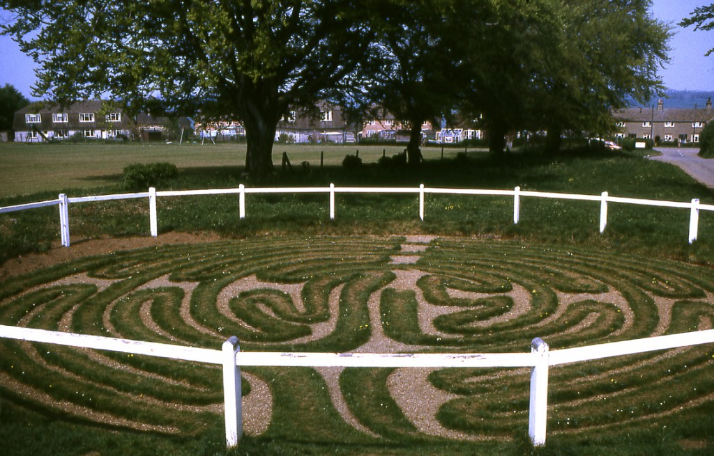 The turf maze at Wing in Rutland (Source: Wikipedia)