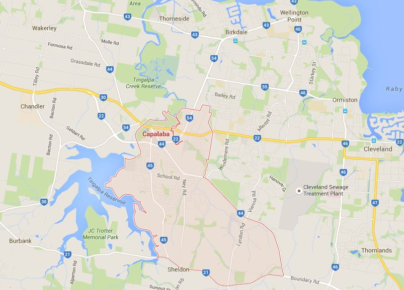 Capalaba lawn maintenance Google map