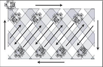 Lawn striping - Diagonal pattern (Image credit: Scag.com)