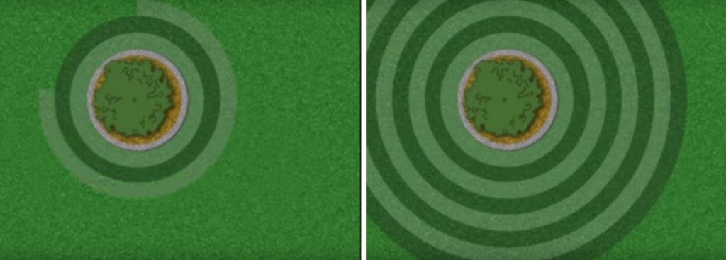 Lawn striping - Circular pattern (Image credit: Toro video)