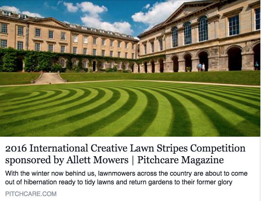 Lawn striping competition (Image Credit: PitchCare.com)