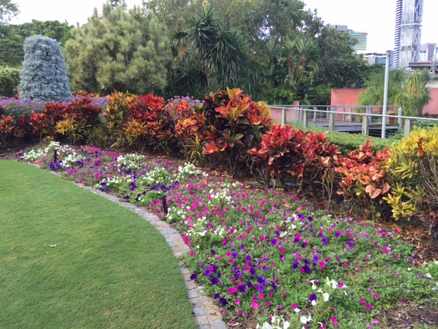 Gorgeous gardens at Roma Street Parkland, Brisbane © GreenSocks