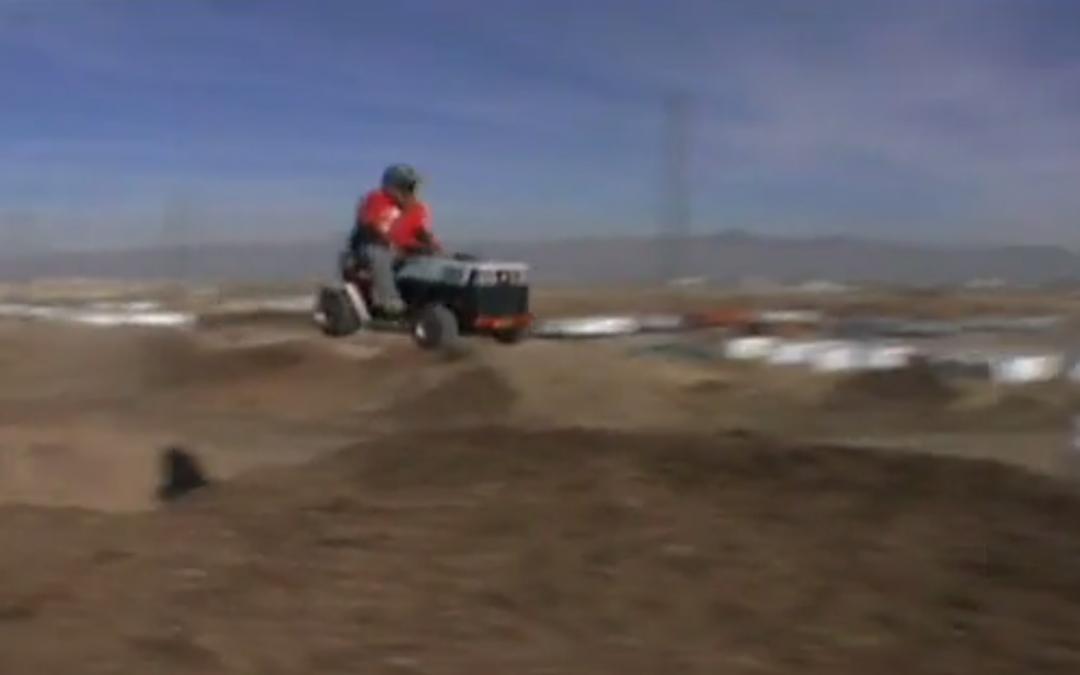 5 Crazy Lawn Mower Stunts