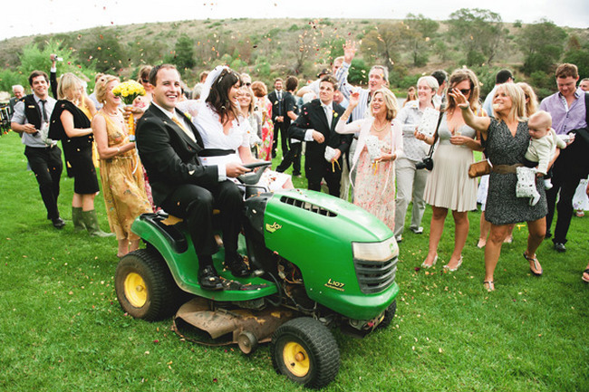 5 Fun Lawn Mower Wedding Gifts