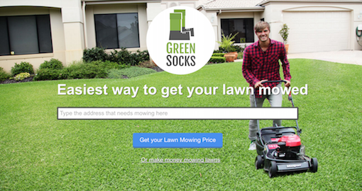 GreenSocks - The easiest way to get your lawn mowed