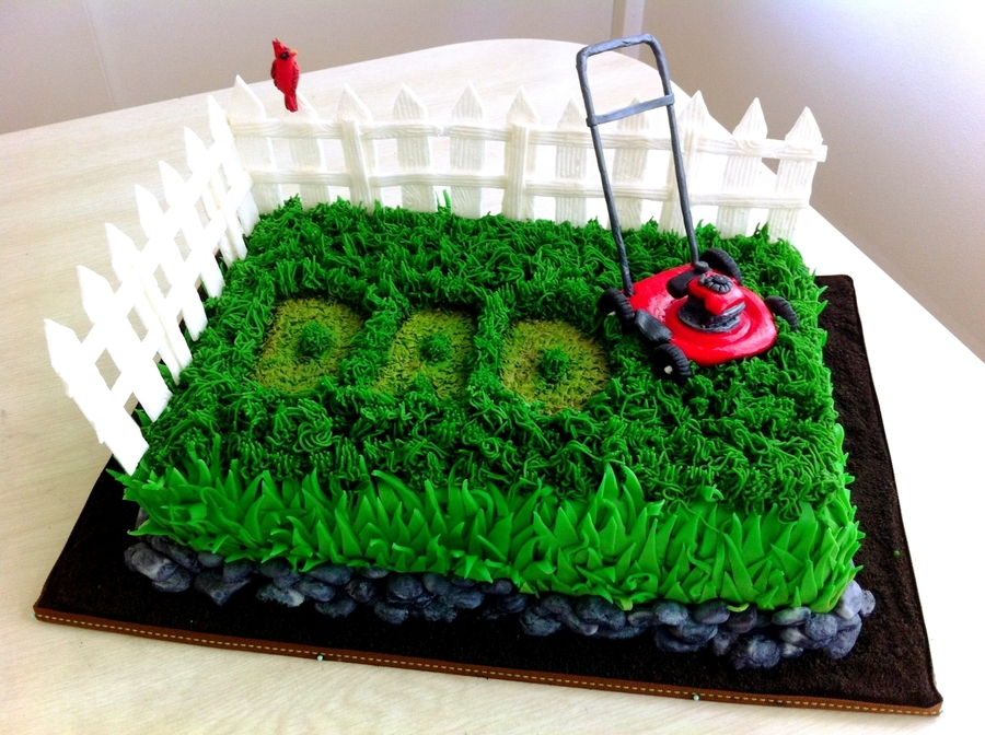 10 Best Lawn Mower Cakes on Pinterest