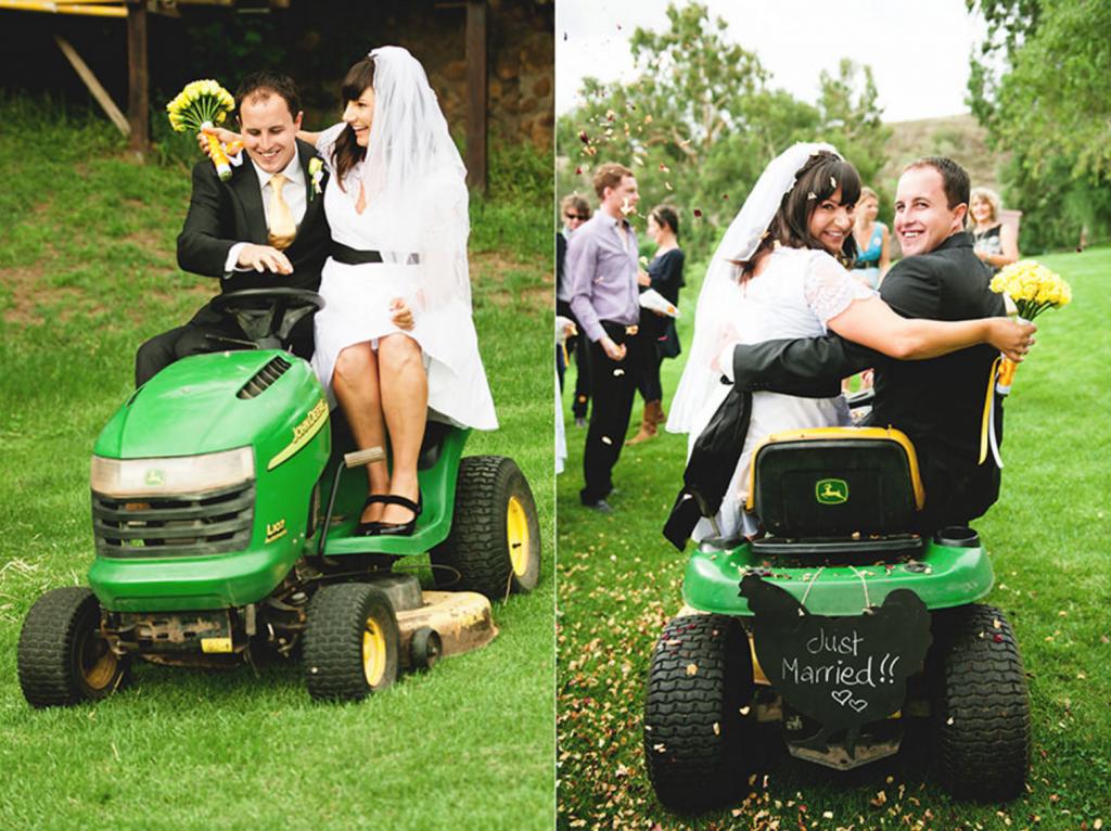 Lawn Mower Wedding (Image credit: KirstenMavric.co.uk)