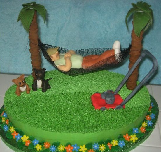 Does mowing the lawn look like this at your house? Pinned on Pinterest by CakeCentral