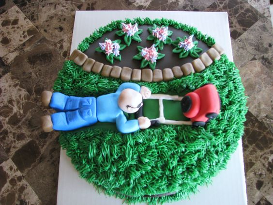 Lawn mower cake saved on Pinterest by Selena McJunkin