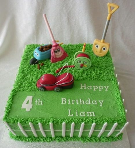 Kids lawn mower cake - pinned by IncredibleCakesByShannon on Pinterest