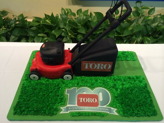 Toro lawn mower cake saved on Pinterest by The Toro Company
