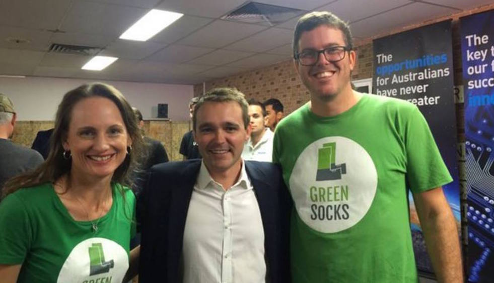 Andrea Martins, The Hon. Wyatt Roy, Richard Eastes © GreenSocks