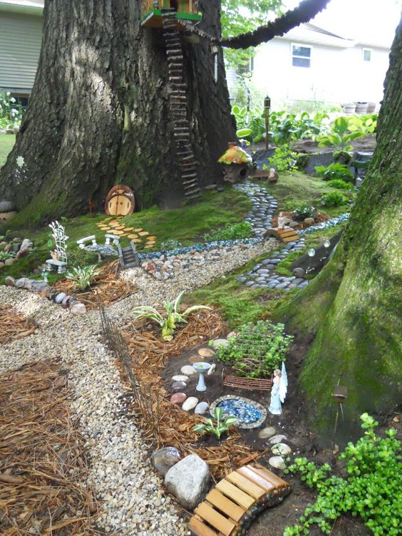 Backyard Fairy Garden on Pinterest