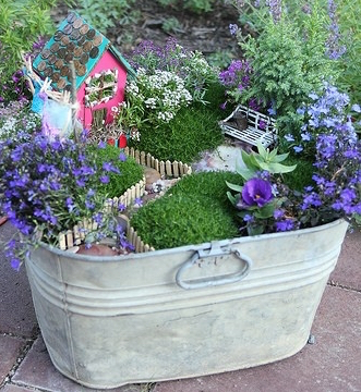 The Bucket Fairy Garden (Image credit: Indulgy)