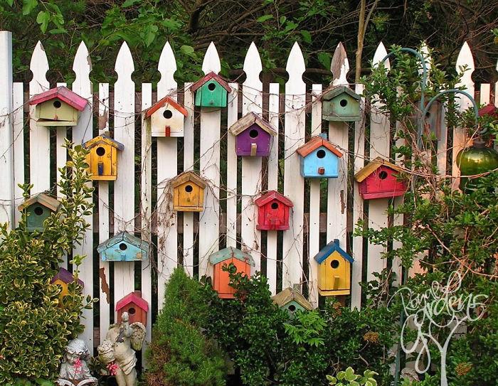 Bird house garden fence art (Image credit: Royal Gardens)