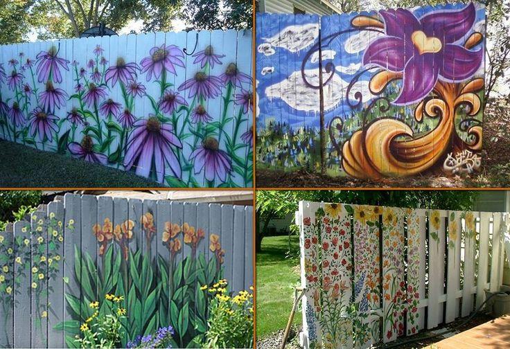Garden fence murals on Pinterest (Image credit: Pinterest. Original source: Unknown.)
